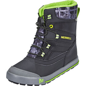 Merrell Snow Bank 2.0 Waterproof Boots Children black/grey/green